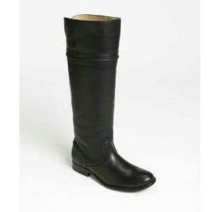 GUC Black Frye Leather Riding Boots